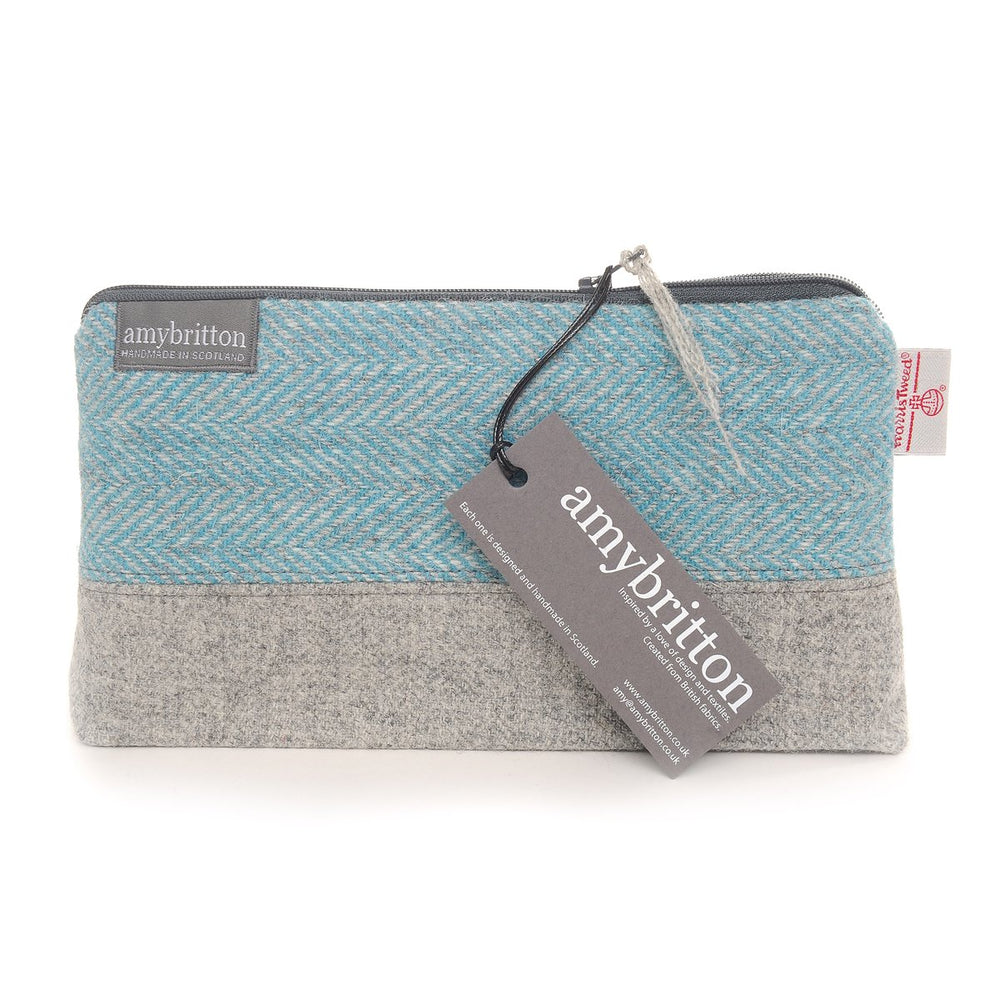 COMING SOON! Harris Tweed® Zippered Bag (Teal)