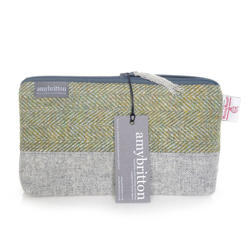COMING SOON! Harris Tweed® Zippered Bag (Grass Green)