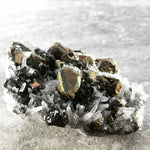 Quartz Crystal with Sphalerite and Chalcopyrite