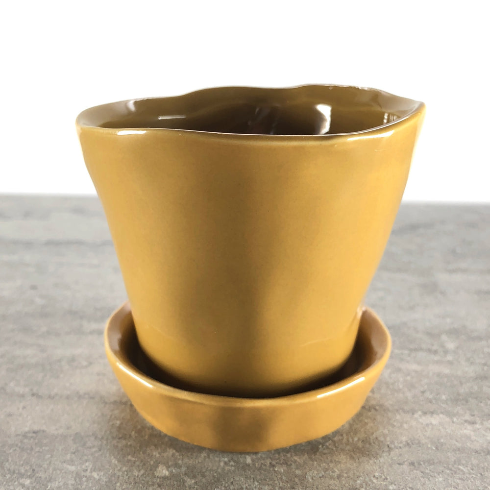 "Asymmetrical 2"" Ceramic Pot"