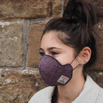 COMING SOON! Harris Tweed® Face Covering (Pink and Navy)