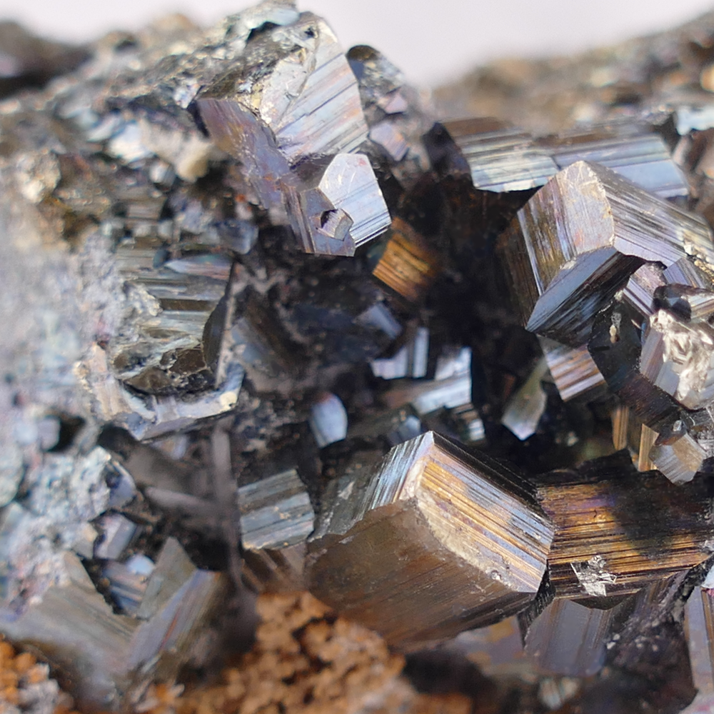 Natural Pyrite with Calcite