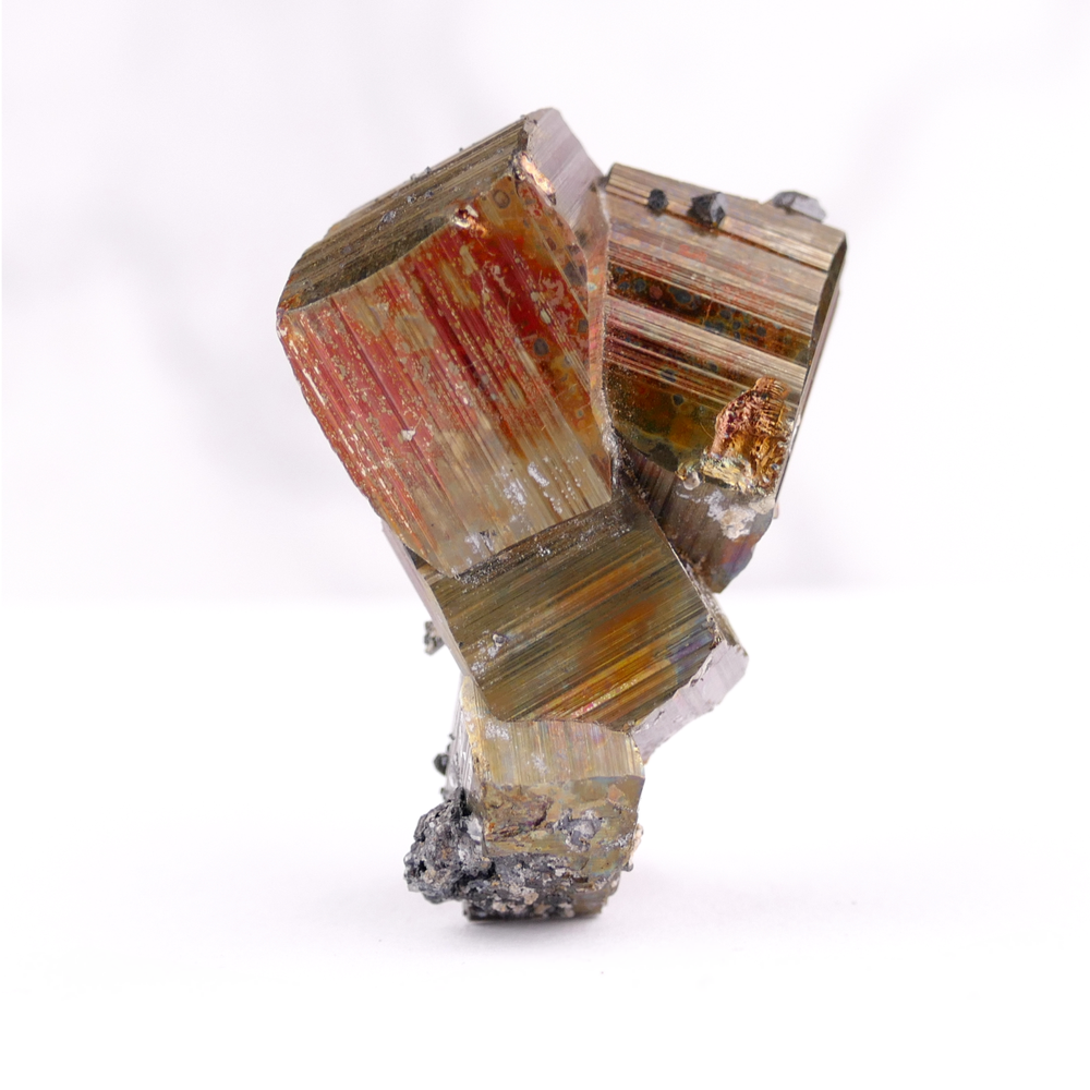 Pyrite with Sphalerite and Iron Oxide
