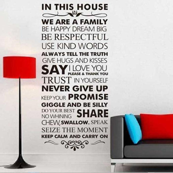 Inspirational Wall Sticker for Family