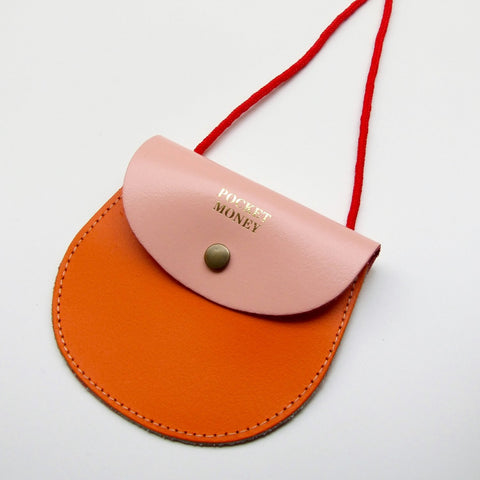 LEATHER POCKET MONEY PURSE