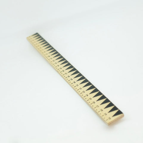 plywood ruler black