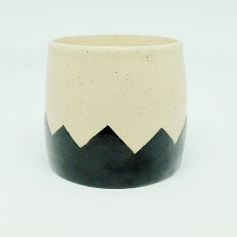 ZIG-ZAG CERAMIC PLANTER, LARGE