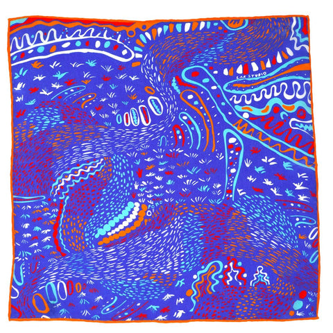 contemporary paisley silk pocket square
