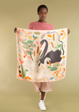 SWAN LAKE SILK SCARF, CREAM