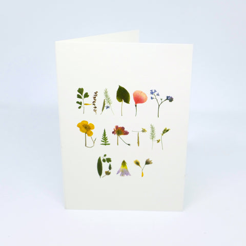 GREETING CARD, HAPPY BIRTHDAY FLOWERS