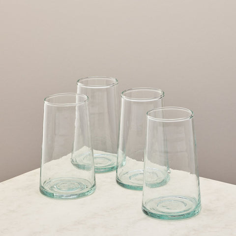 set of four highball glasses