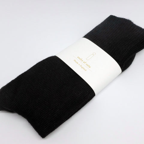 ALPACA SOCKS, BLACK