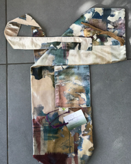 Abstract velours yoga mat bag strap detail