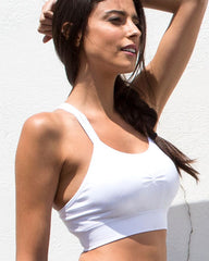 Seamless Crop Top - White