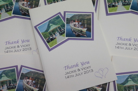 Double Photo Thank You Cards