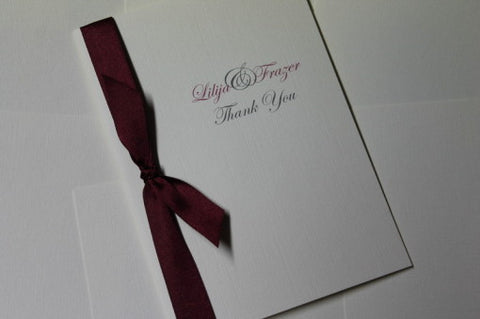 Tying the Knot Thank You Cards