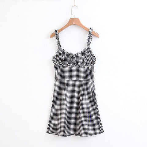 Frilly Gingham Cami Dress