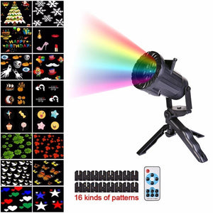 16 Patterns Christmas/Halloween/Birthday/Thanksgiving/Holidays/Various Laser Outdoor LED Waterproof Projector