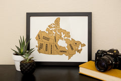 Canada Scratch Your Travels™ Map (11x14in)