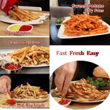 Instant French Fries Maker - Jiffy Fries Cutter Machine & Microwave Container 2-in-1 No Deep-Fry