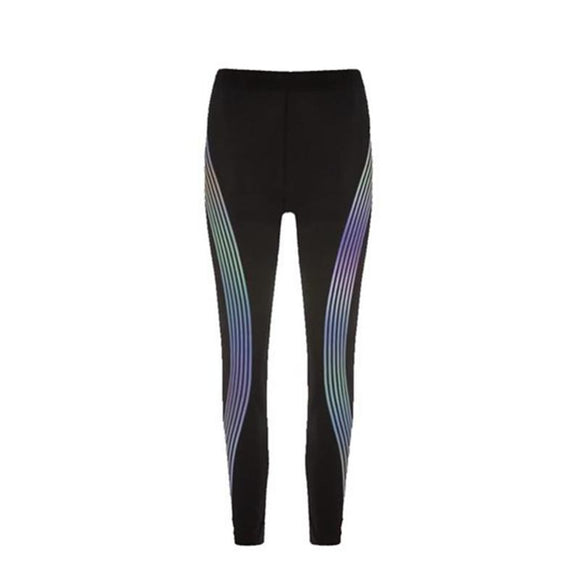 Leggings - Reflective Glow In The Dark Striped Fitness Yoga Leggings