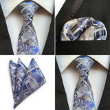 Men's 100% Silk Luxury Tie & Pocket Square