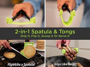 Non Stick 2 In 1 Kitchen Spatula And Tongs