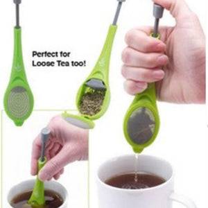 Perfect For Tea Enthusiasts - Tea Infuser Gadget With Built-in Plunger