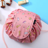 Magic Round Drawstring Cosmetic Makeup Bag