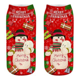 3D Christmas Socks - Perfect New Years Gift - Santa Claus, Elk, Snowman