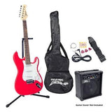 PYLE PRO - Beginner Electric Guitar Package - Red