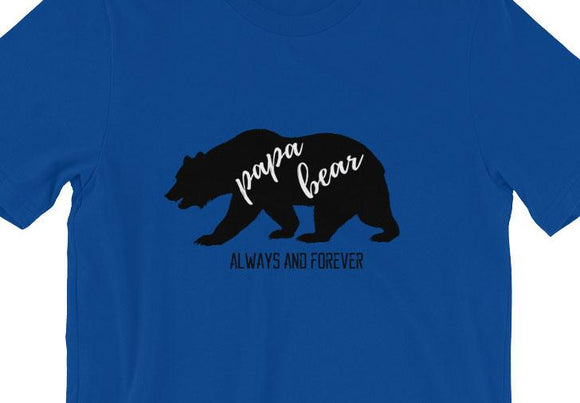 T-Shirt - Papa Bear Father's Day Short-Sleeve T-Shirt