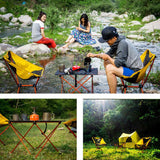 Ultralight Portable Foldable Compact Outdoor Chair/Tables For Camping, BBQ, Hiking, Traveling, Picnics, Barbecues And Fishing