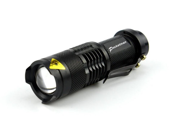 Waterproof Zoom-able LED Flashlight