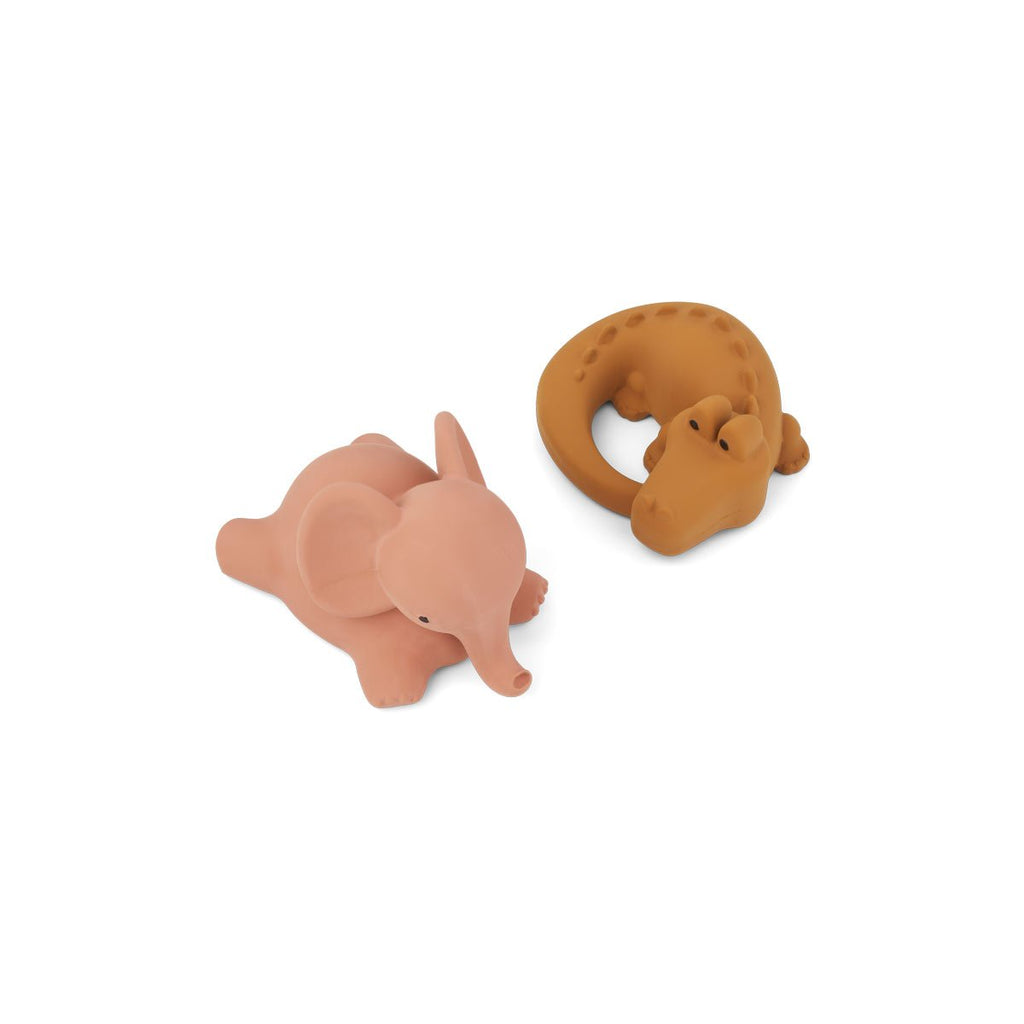 LIEWOOD - Vicky le Pack de 2 jouets de bain Safari Rose Mix