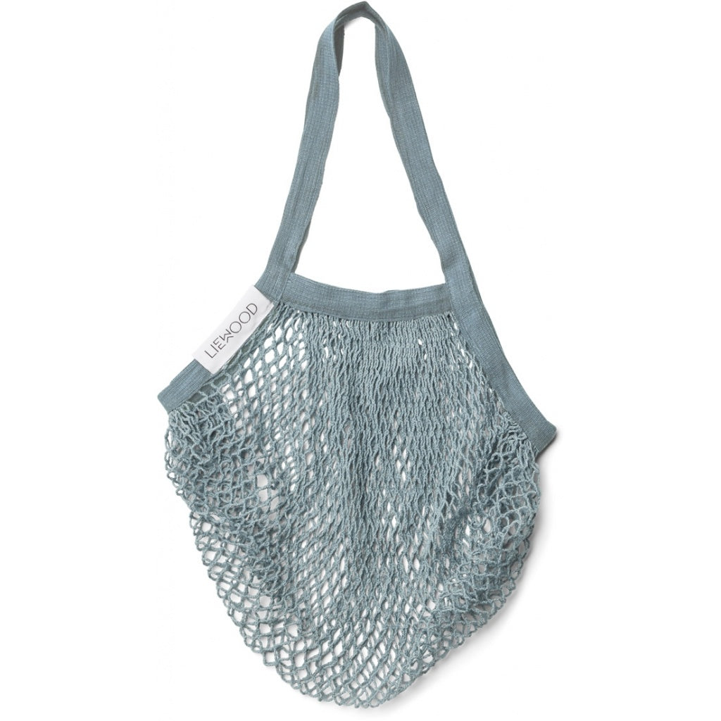 LIEWOOD - sac filet au crochet de coton biologique Sea Blue