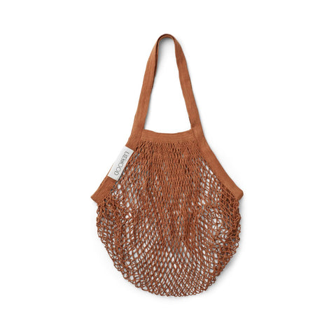 LIEWOOD - sac filet au crochet de coton biologique Terracotta