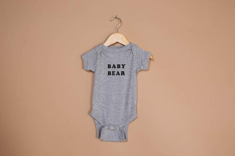 Body manches courtes BABY BEAR gris