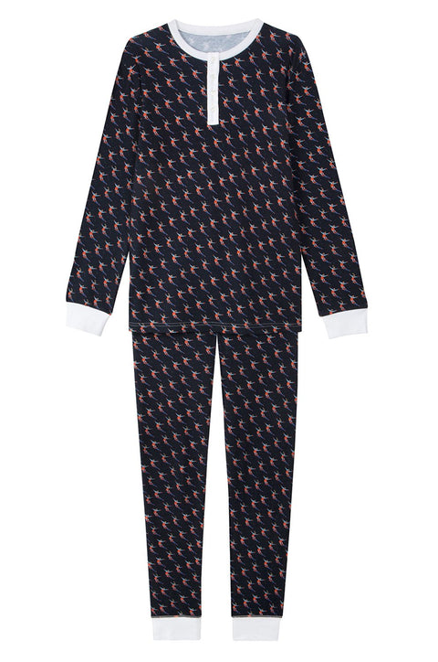 "BRAI - Pyjama femme Momi ""LET IT SNOW"" en coton biologique"