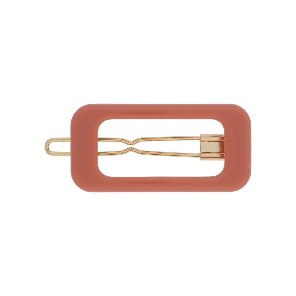 Kanel - Barrette clip terracotta Rectangle 1625