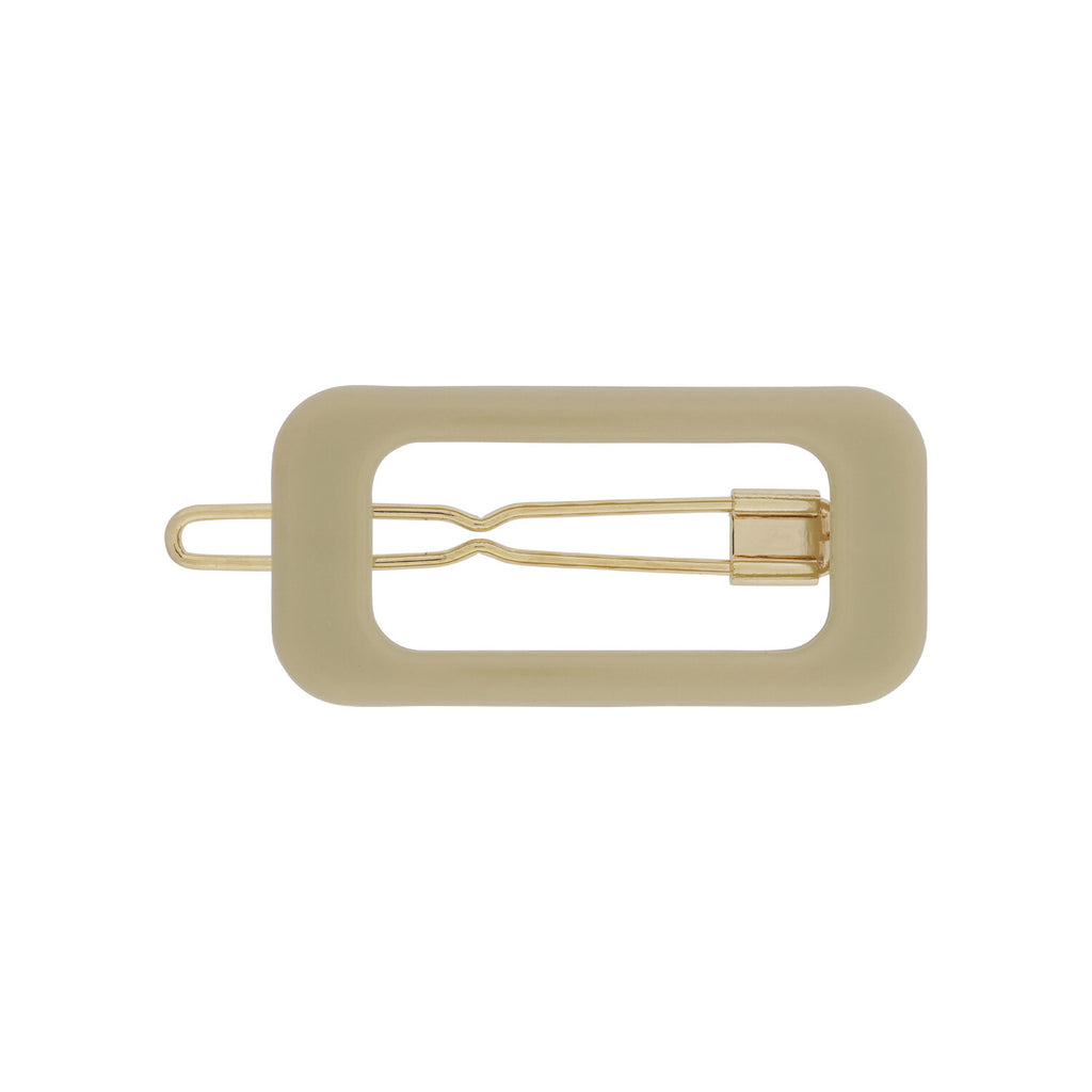Kanel - Barrette clip taupe Rectangle 4685