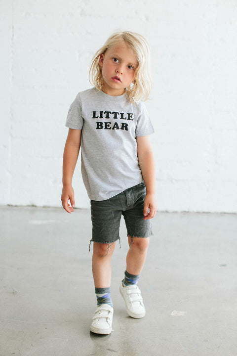the Bee & the Fox - T-shirt enfant LITTLE BEAR gris
