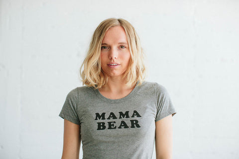 the Bee & the Fox - T-shirt femme MAMA BEAR gris
