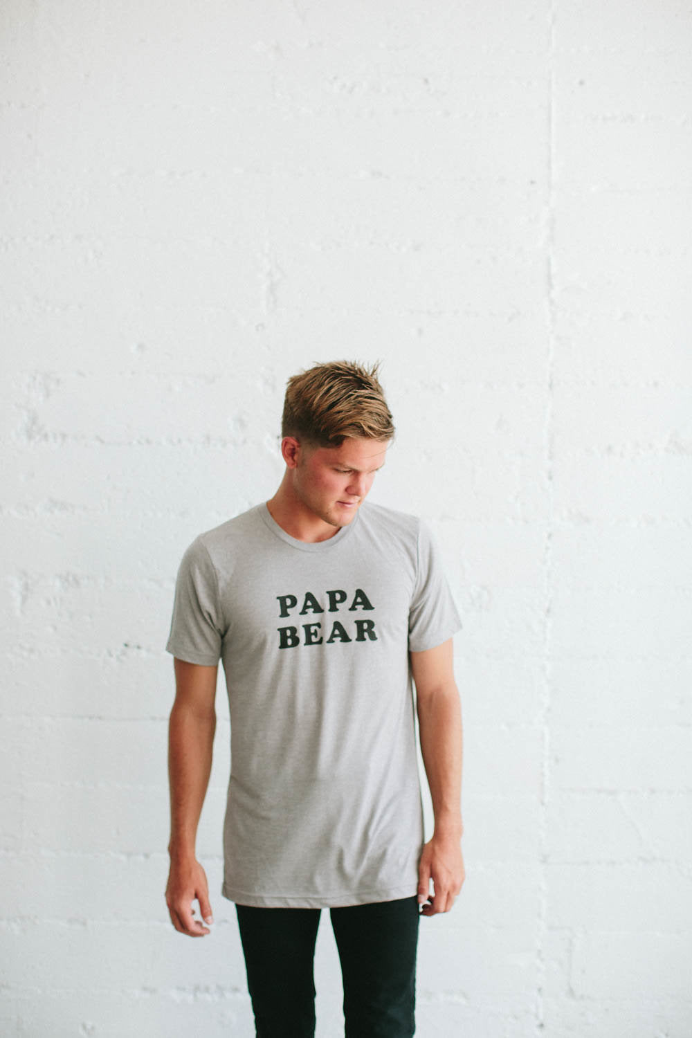 the Bee & the Fox - T-shirt homme PAPA BEAR gris