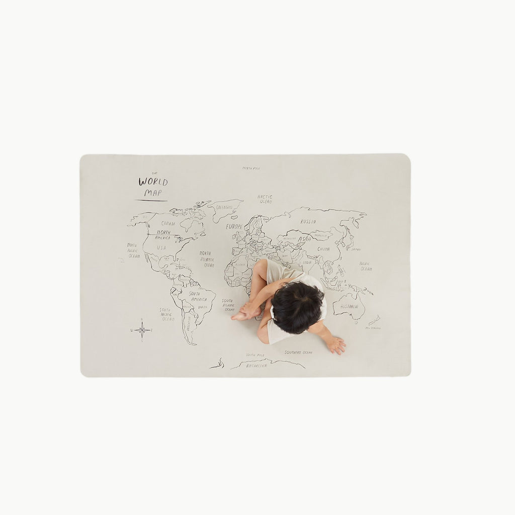 GATHRE - World Map le Tapis multi-usages Carte du Monde Mini +