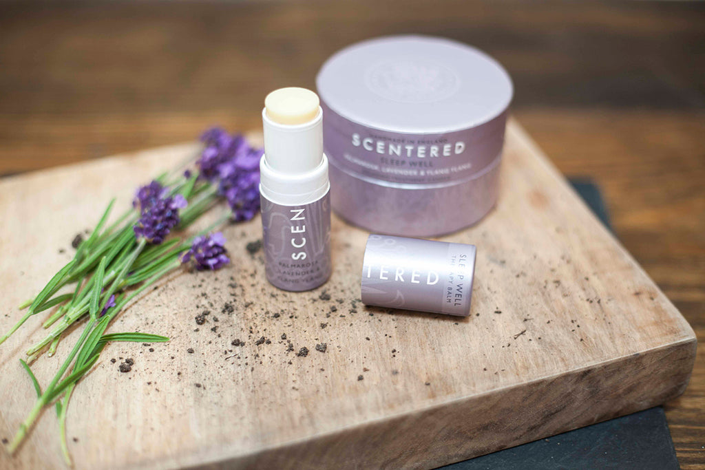 Scentered's Sleep Well blend relaxes the body and quiets the mind for a restful night's sleep