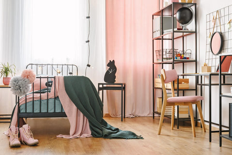 Emerald Green Bedding With Pink