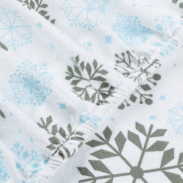 Blue Gray Snowflakes