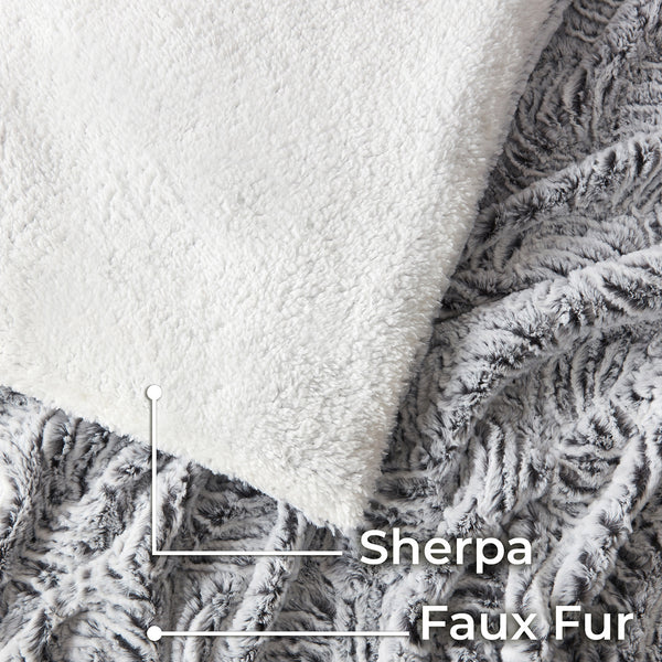 Faux Fur Duvet Cover Set