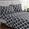 Dark Gray Quatrefoil